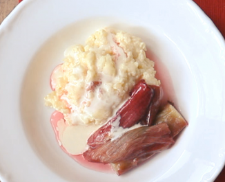 Glenisk-Style Rice Pudding with Vanilla Rhubarb