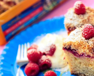 Lemon and Raspberry Yogurt Bars
