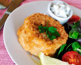 Fish Cakes with Yogurt Tartare