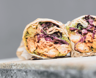 Middle Eastern Chicken Wrap
