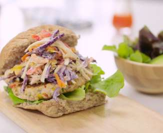 The Naked Blondie Fajita High Protein Turkey Burger