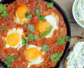 Shakshuka and Tzatziki