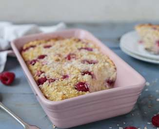 Baked Raspberry Oats