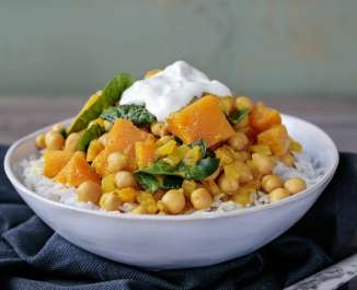 Chickpea, Spinach & Squash Curry
