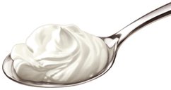 spoon with glenisk yoghurt