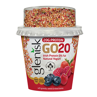 GO20 Protein Yogurt, Mixed Berry Granola