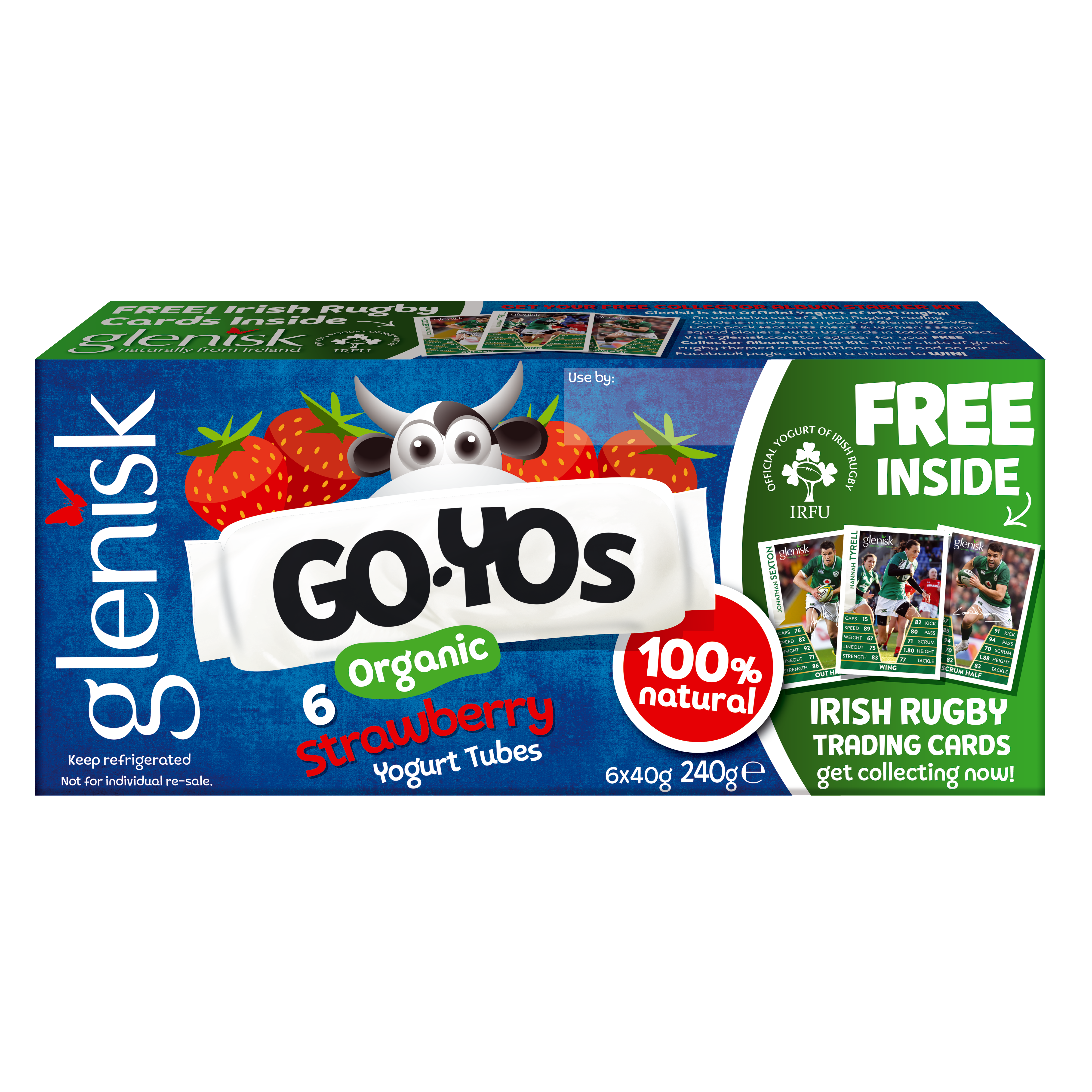 Organic GO-YO Strawberry Yogurt Tubes
