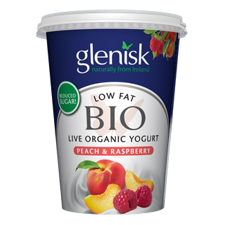 Organic Bio Low Fat Peach & Raspberry Yogurt