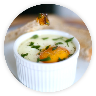 Forkful Baked Eggs with Chorizo