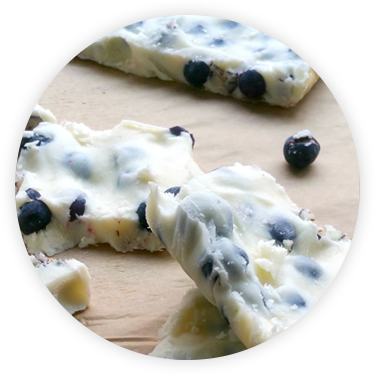 Glenisk Frozen Blueberry Yogurt Bark